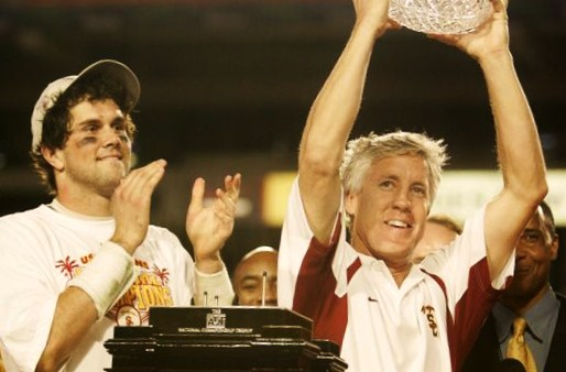 Matt Leinart w/ Pete Carroll at USC.