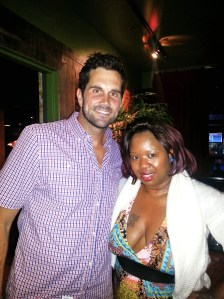 Lady Scribe of SRE Media Group here w/ Matt Leinart at his 2014 Annual Celebrity Bowl in Los Angeles.